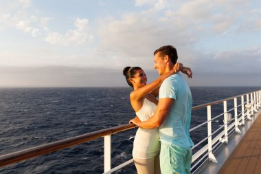 Young couple on cruise