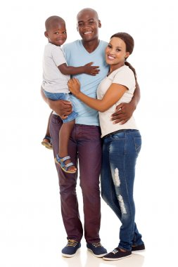 African american family posing