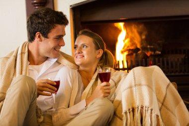 Couple spend romantic evening
