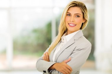 career woman with arms folded