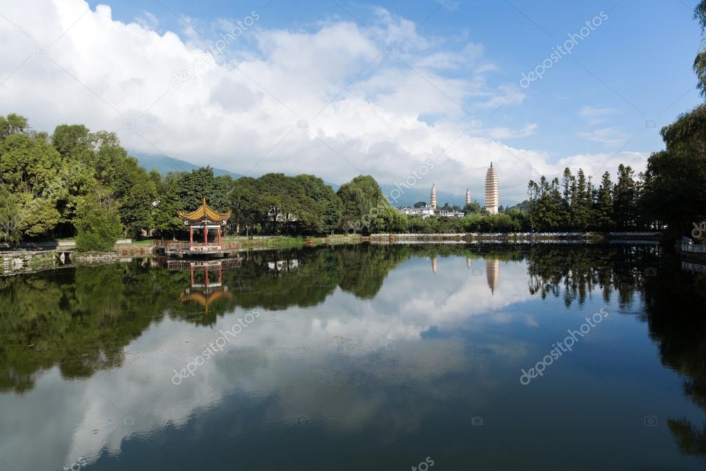 Dali white pagodas