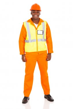 young african industrial worker