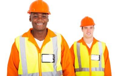 handsome young contractors