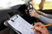 studenta řidiče při řidičské zkoušky
