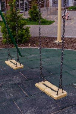 Nobody swing swinging in play ground
