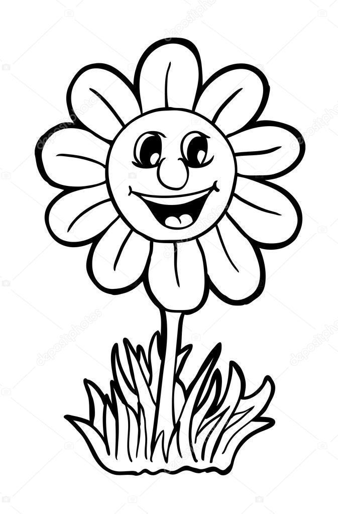 Imágenes: girasoles animados para colorear | Girasol con sonrisa ...