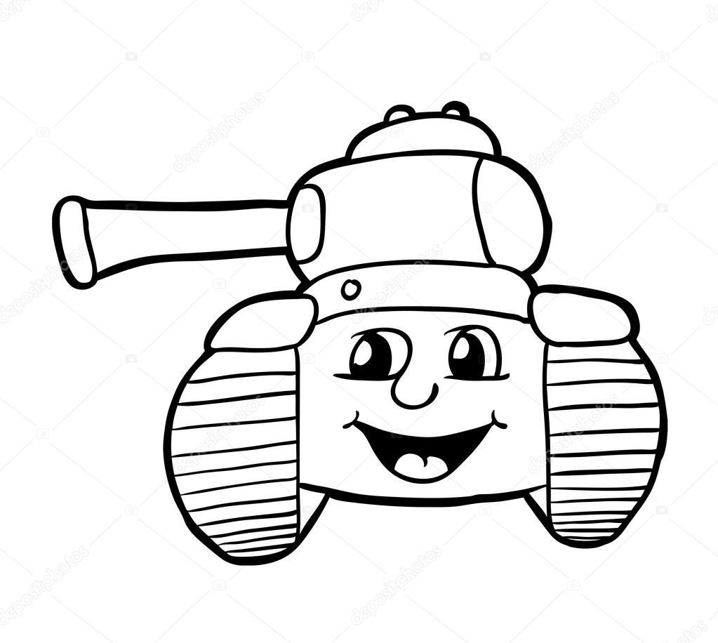 Gülümseme Ile Tank Stok Vektör Synchr 91242024