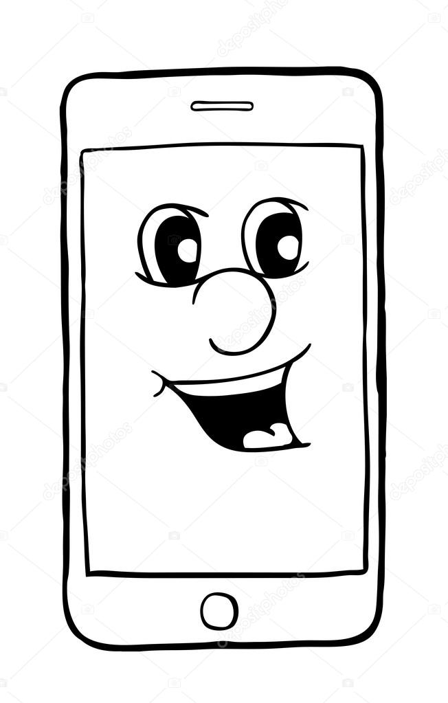 Imágenes Sonrisas Para Colorear Teléfono Con Sonrisa Vector De