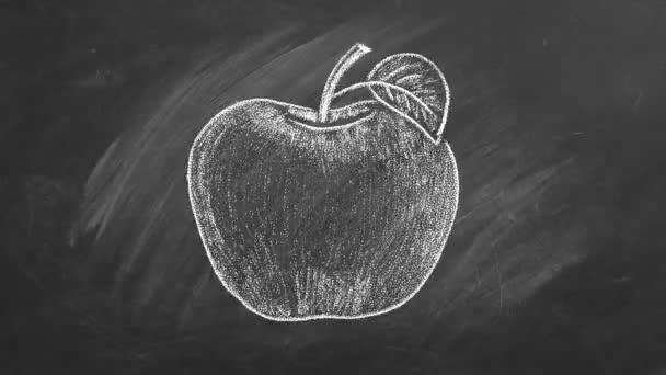 Zralé jablko v křídě