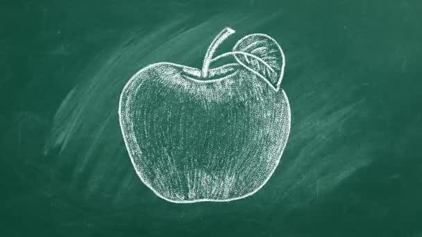 Érett alma zöldlapon
