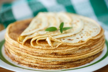 many thin pancakes