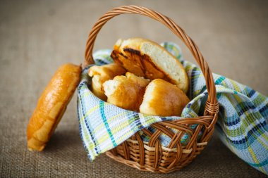 homemade pies in a basket