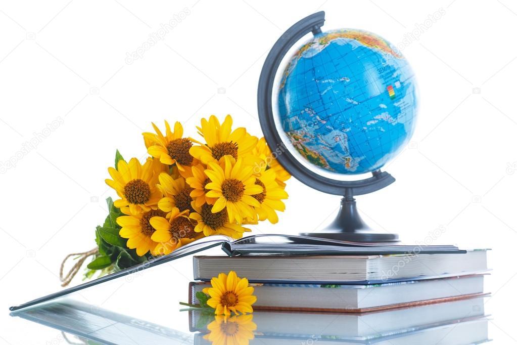 Магазин, цветы с глобусом