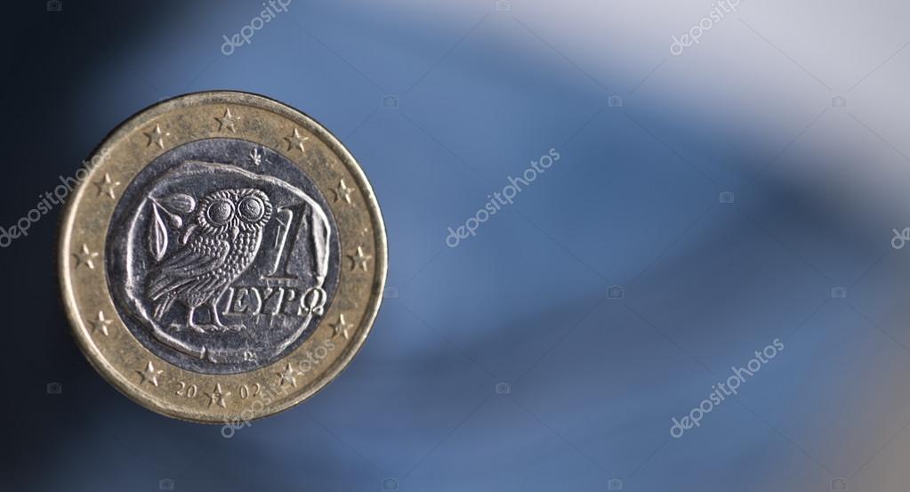 Griechische Eule Euro Stockfoto Depally 76591305