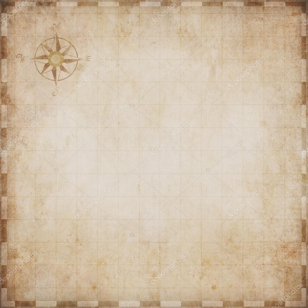 Aged Blank Nautical Treasure Map Photo By Andrey Kuzmin
