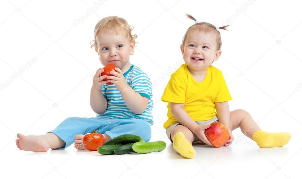 Fotos: Niños Comiendo Frutas Y Verduras