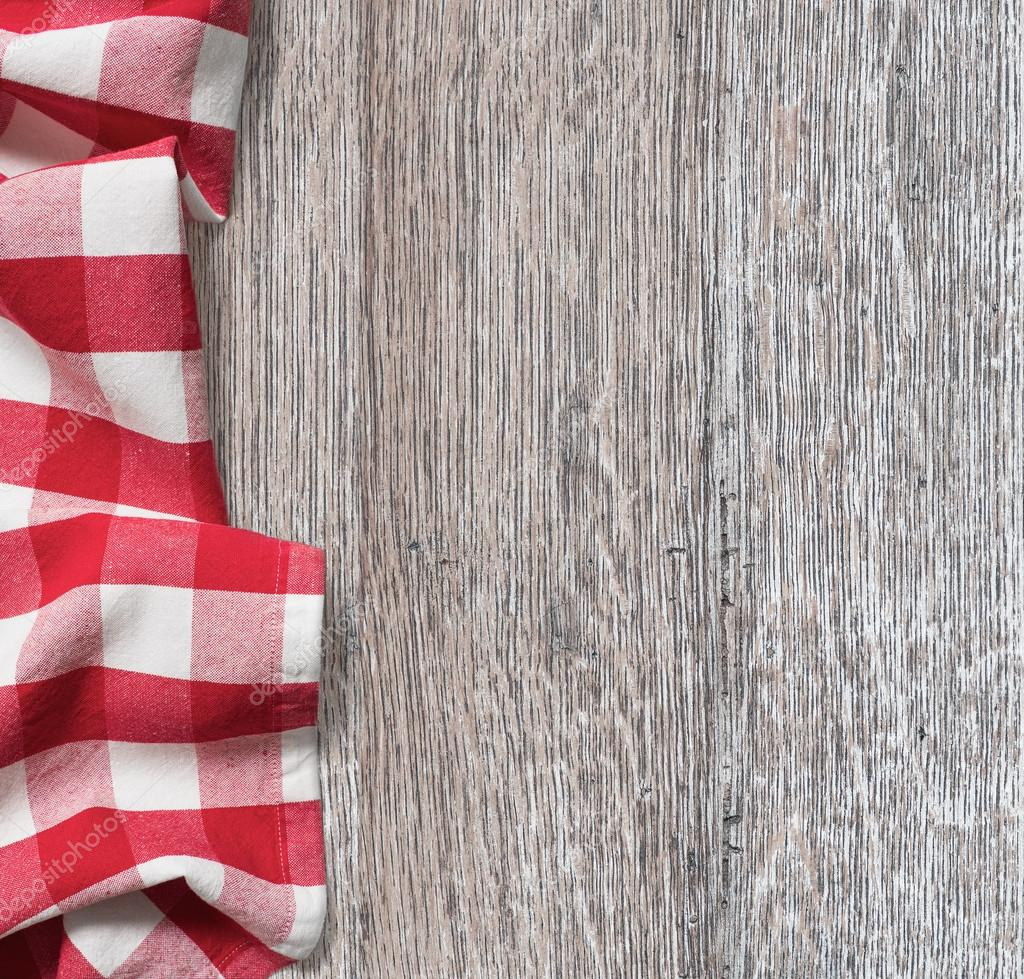 Picnic table background - Rough Wood Kitchen Table With Red Picnic Cloth Background Stock Photo 70134603