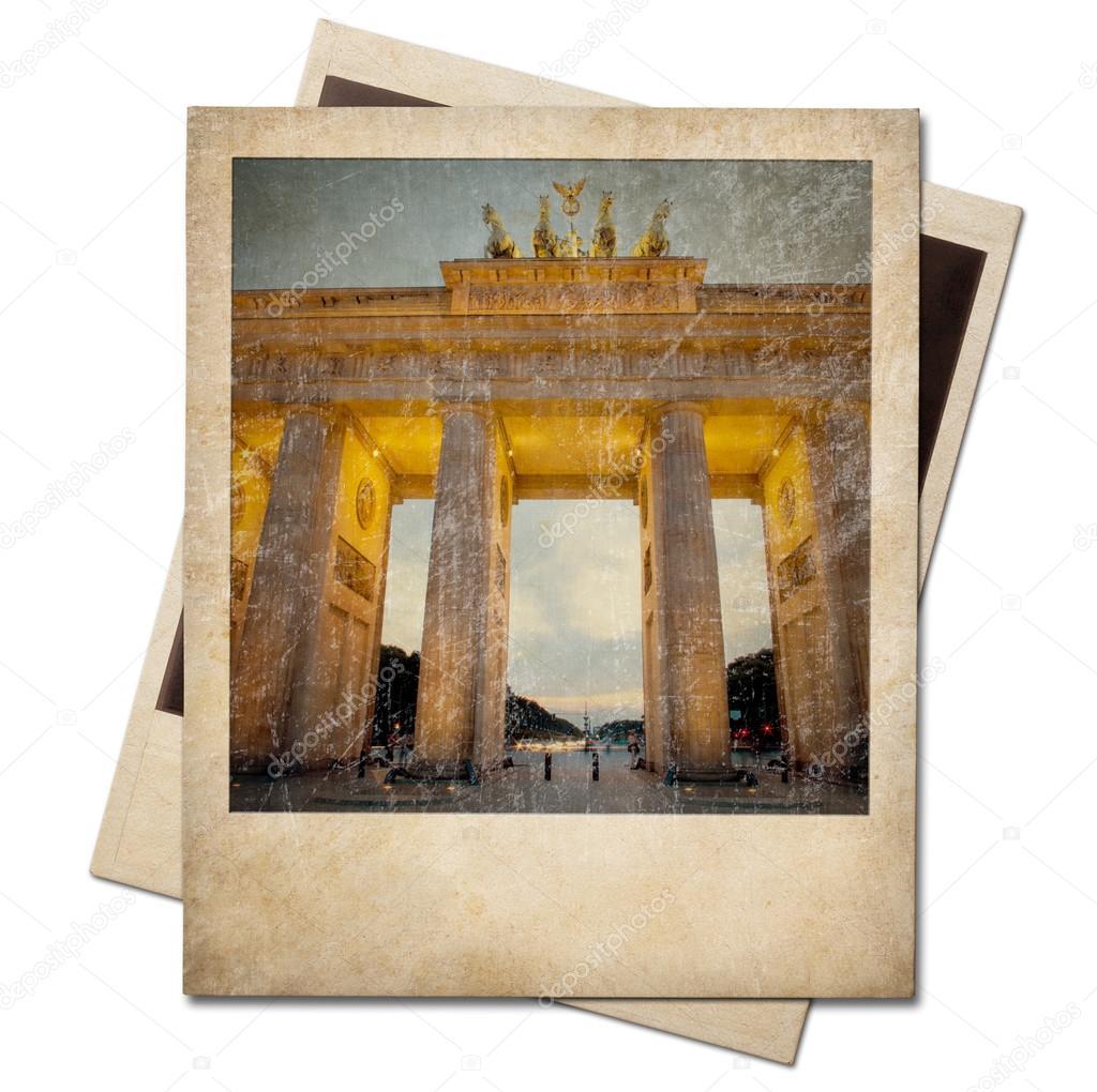Alte Polaroid Berlin Fotorahmen isoliert — Stockfoto © Andrey_Kuzmin ...