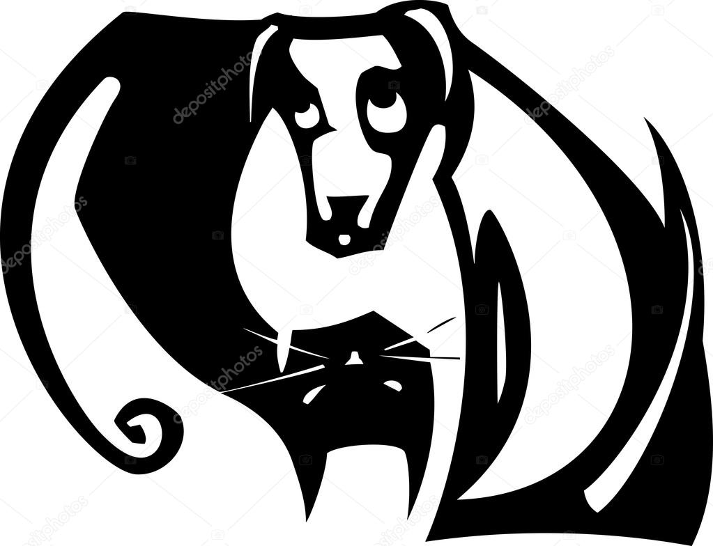 yin yang dog and cat stock vector xochicalco 86176342 rh depositphotos com Yin and Yang Shape Dog Cat Line Art Yin Yang Graphic Design
