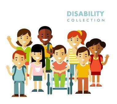 Disability children friendship concept