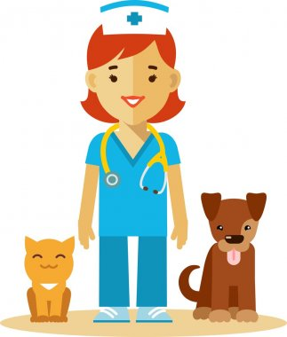 Veterinary doctor, dog and cat