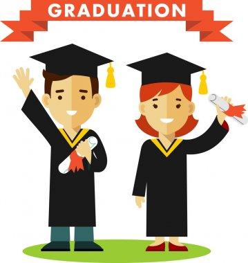 Graduates concept character