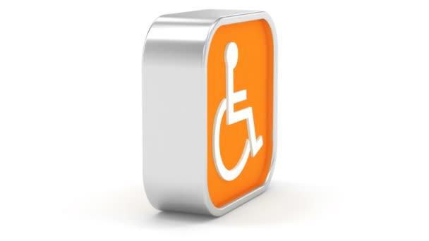 Rollstuhl zugängliche Zeichen