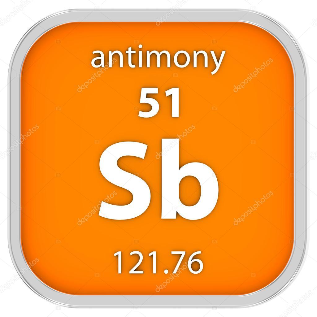 Antimony Material Sign Stock Photo Nmcandre 73533535