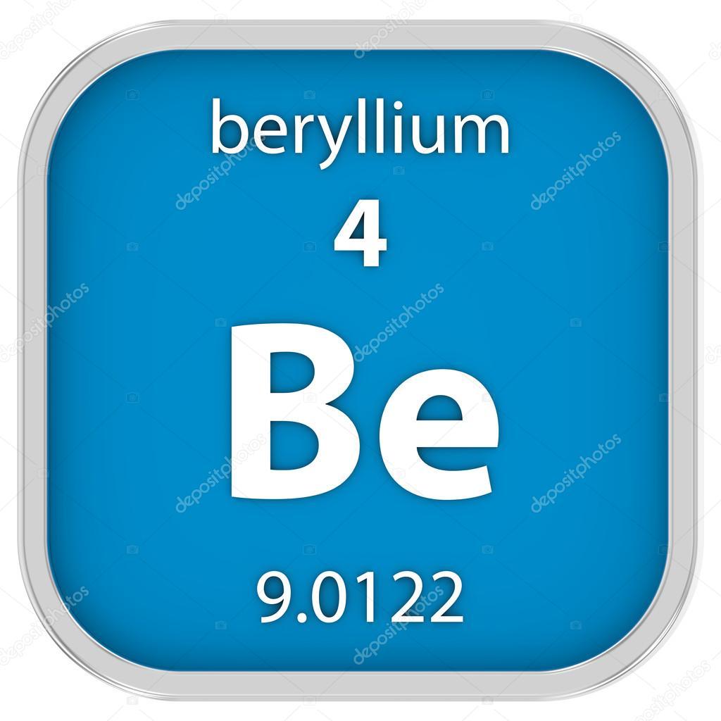 material de berilio en la tabla peridica parte de una serie foto de nmcandre - Tabla Periodica Berilio