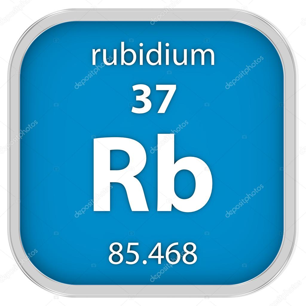 Signo material del rubidio fotos de stock nmcandre 74198809 material de rubidio en la tabla peridica parte de una serie foto de nmcandre urtaz Images