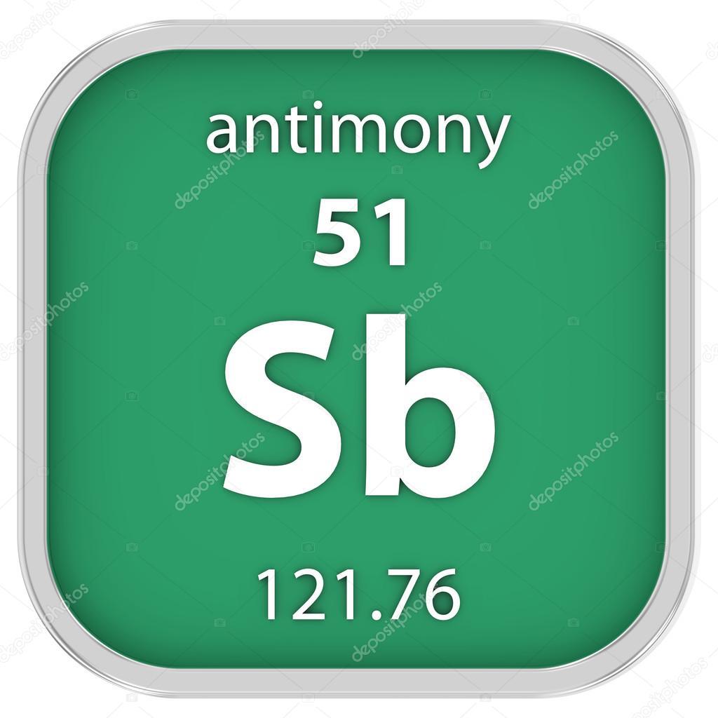 Antimony Material Sign Stock Photo Nmcandre 74537267