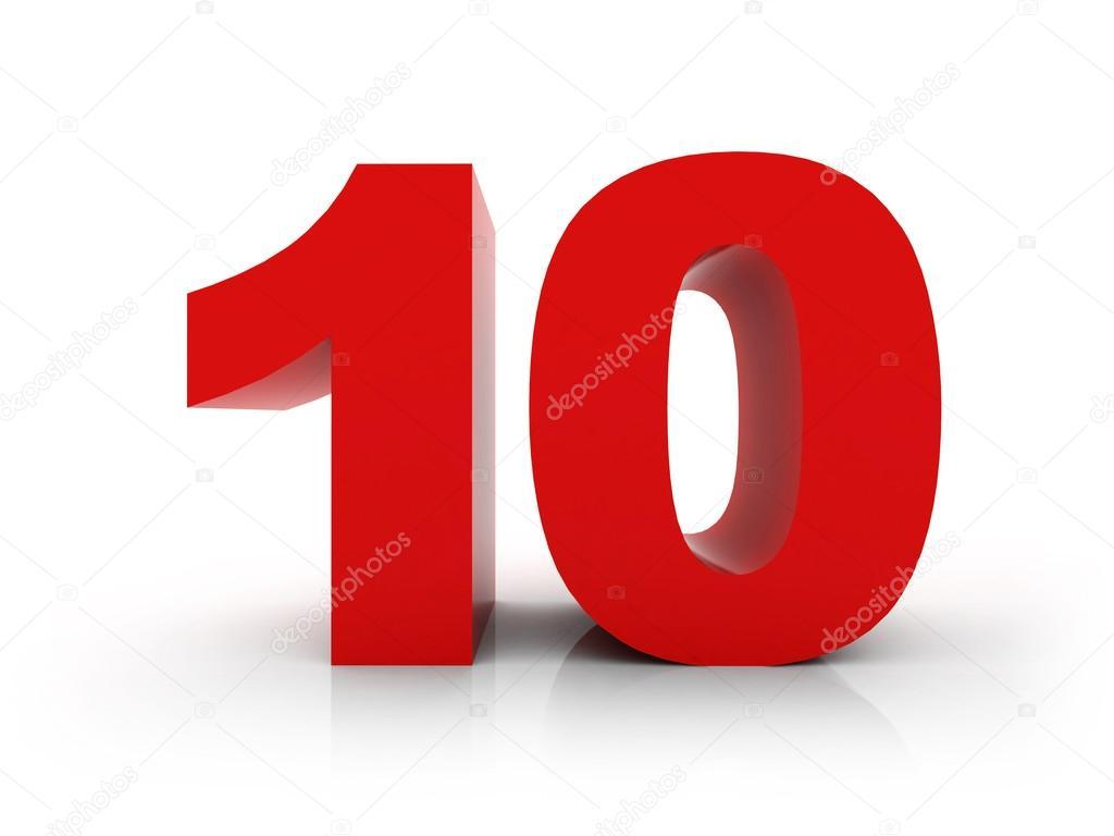 Золотой номер 10 номер 10 и слово лет на фоне металла.
