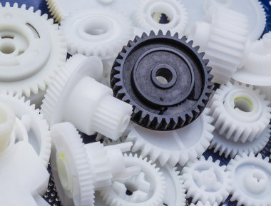 Plastic gear close-up