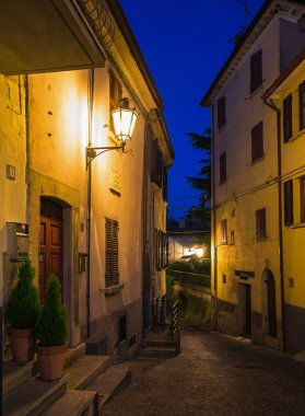 Evening streets of San Marino