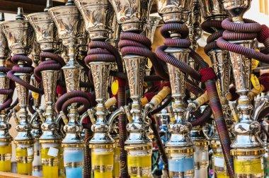 Hookahs in souvenir shop at UAE