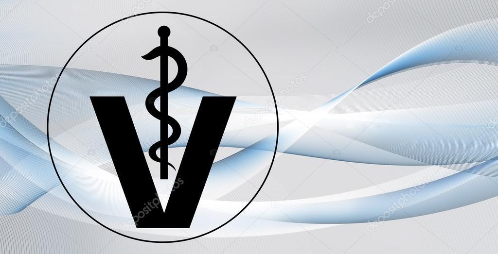 Famosos fundo de símbolo veterinária — Stock Photo © Mobilee #118498506 DH15