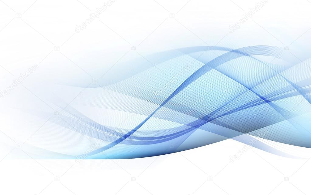 Líneas De Luz Movimiento Azul Y Gris Sobre Fondo Blanco