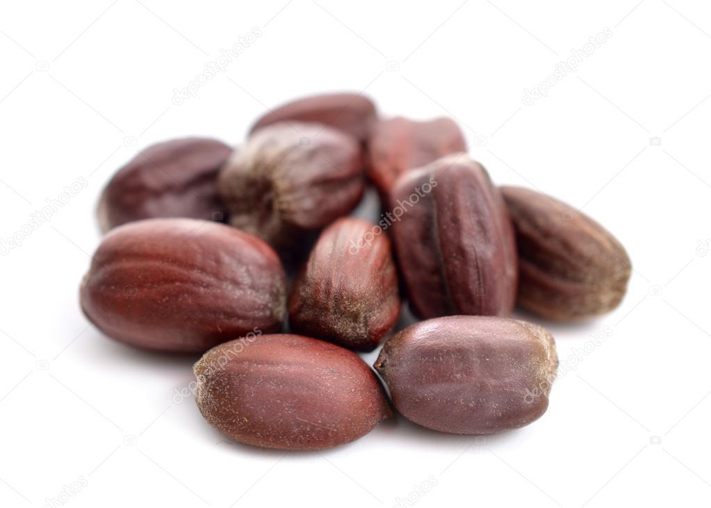 Jojoba (Simmondsia chinensis) seeds.