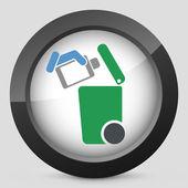 Szelektív hulladékgyűjtést ikon