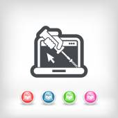 Photo Computer assistance icon