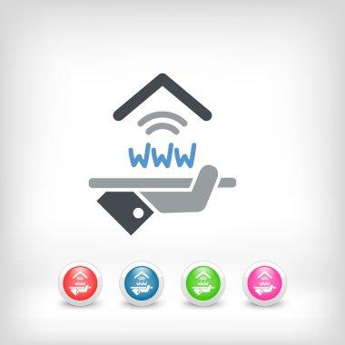 Hotel icon. Wi-fi service.