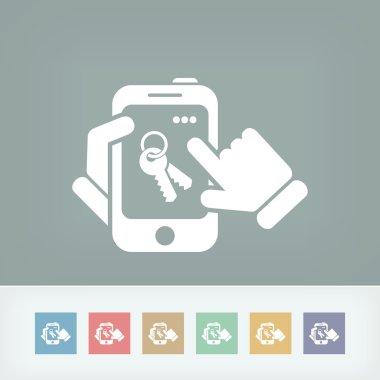 Smartphone icon. Key access.