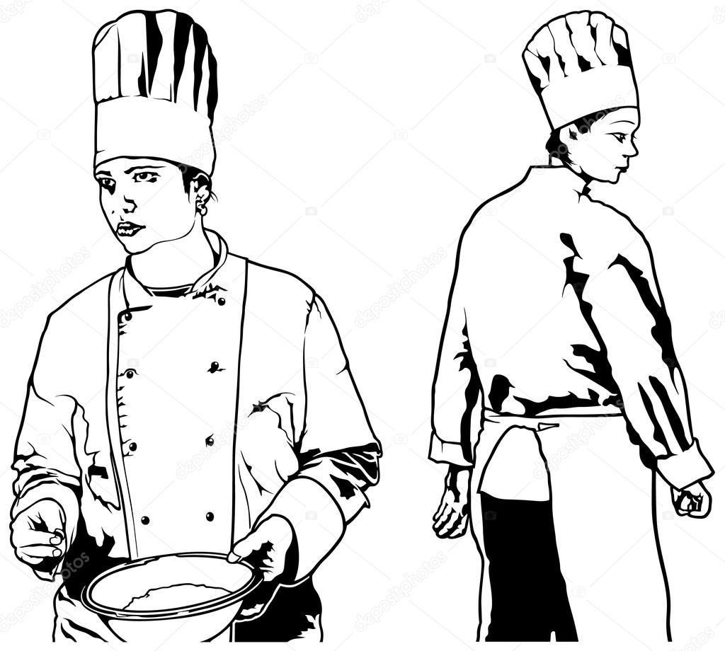 Chef Woman Set Stock Vector C Dero2010 83300140
