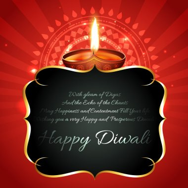Vector beautiful diwali diya background with space for your text stock vector