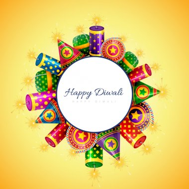 Vector happy diwali background with space for your text stock vector