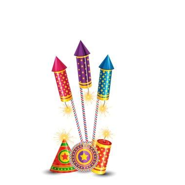 Vector diwali crackers background stock vector