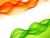 indická vlajka design ve stylu vlna