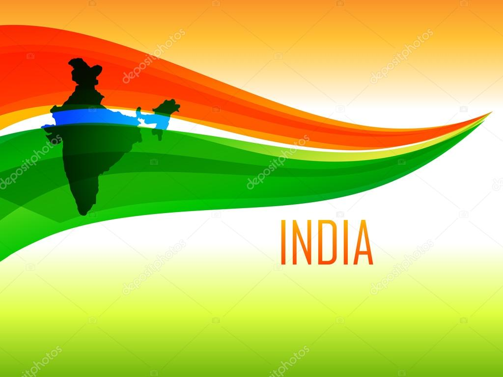 indian flag design in wave style