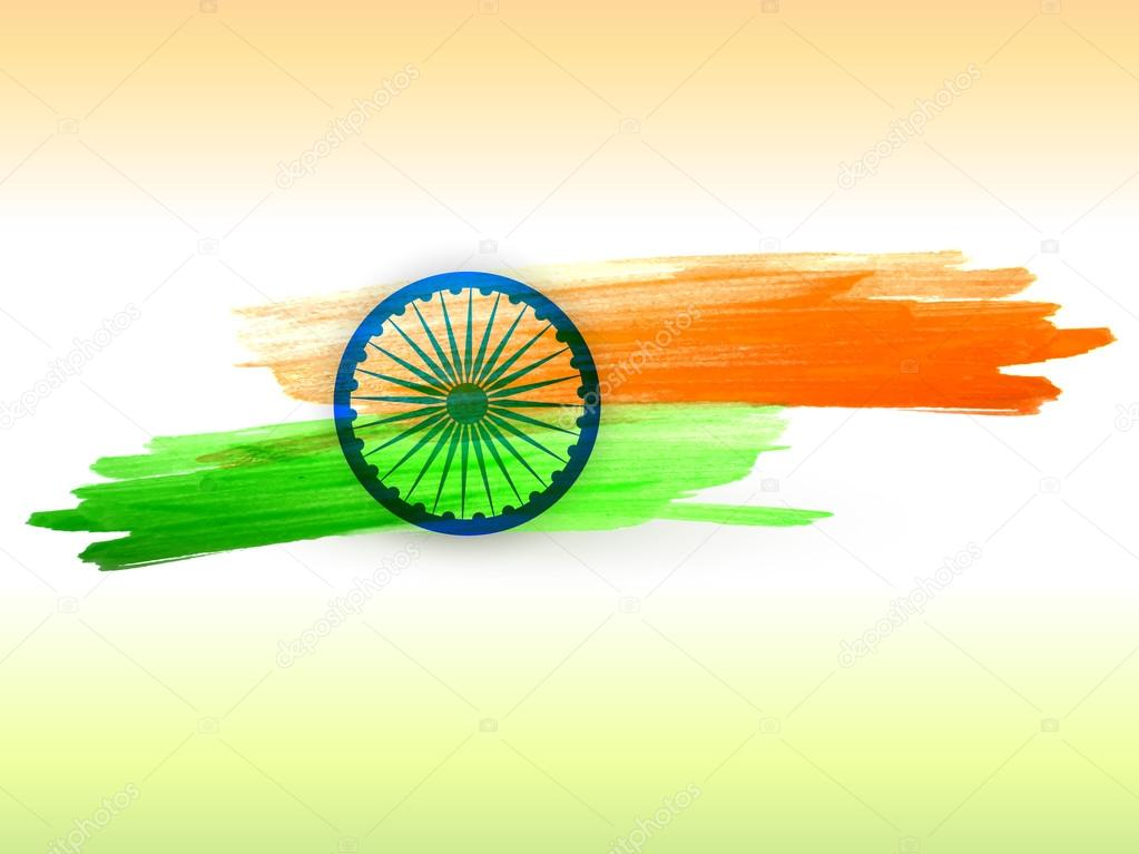 Indian flag made with color strokes