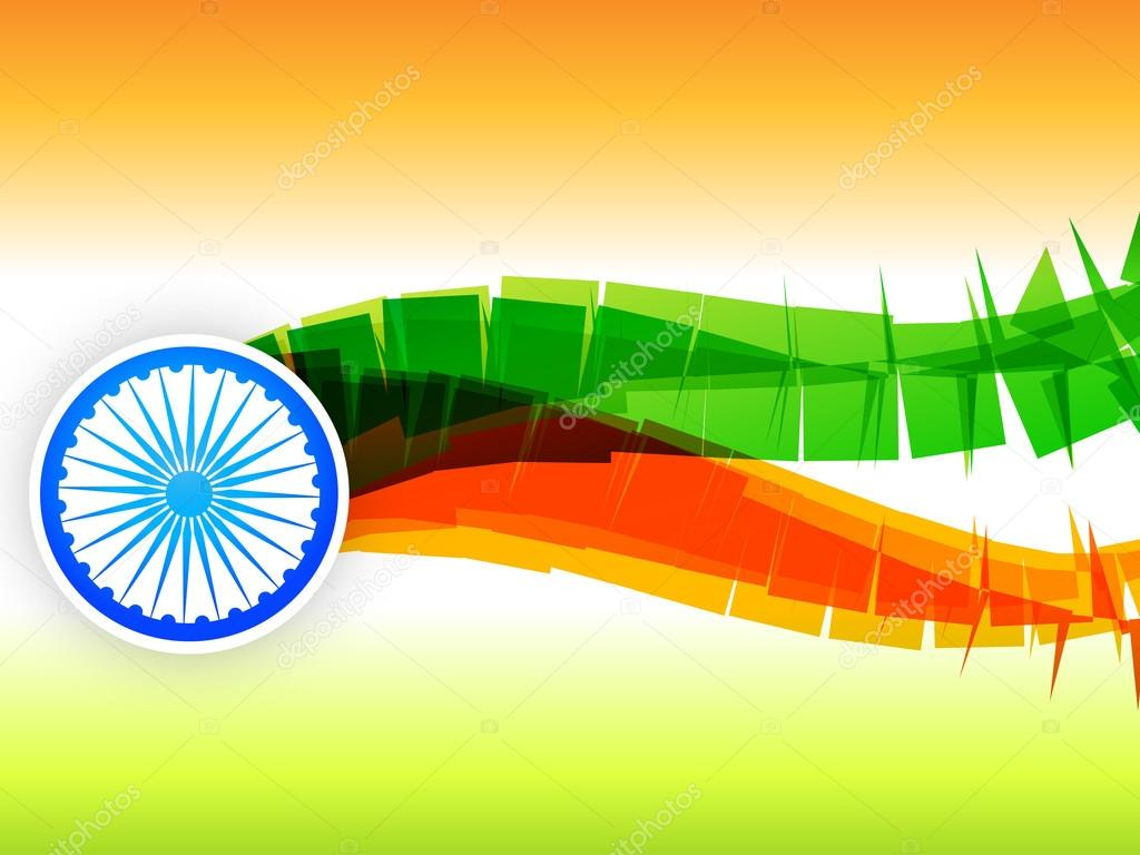 Creative indian flag design made in wave style